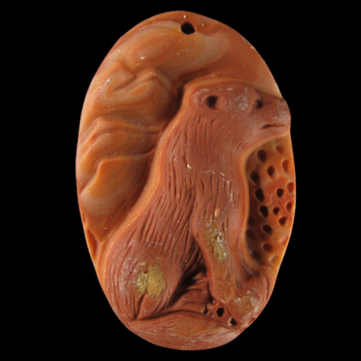 Red Malachite Stone : Carved fox red malachite bead bb ebay